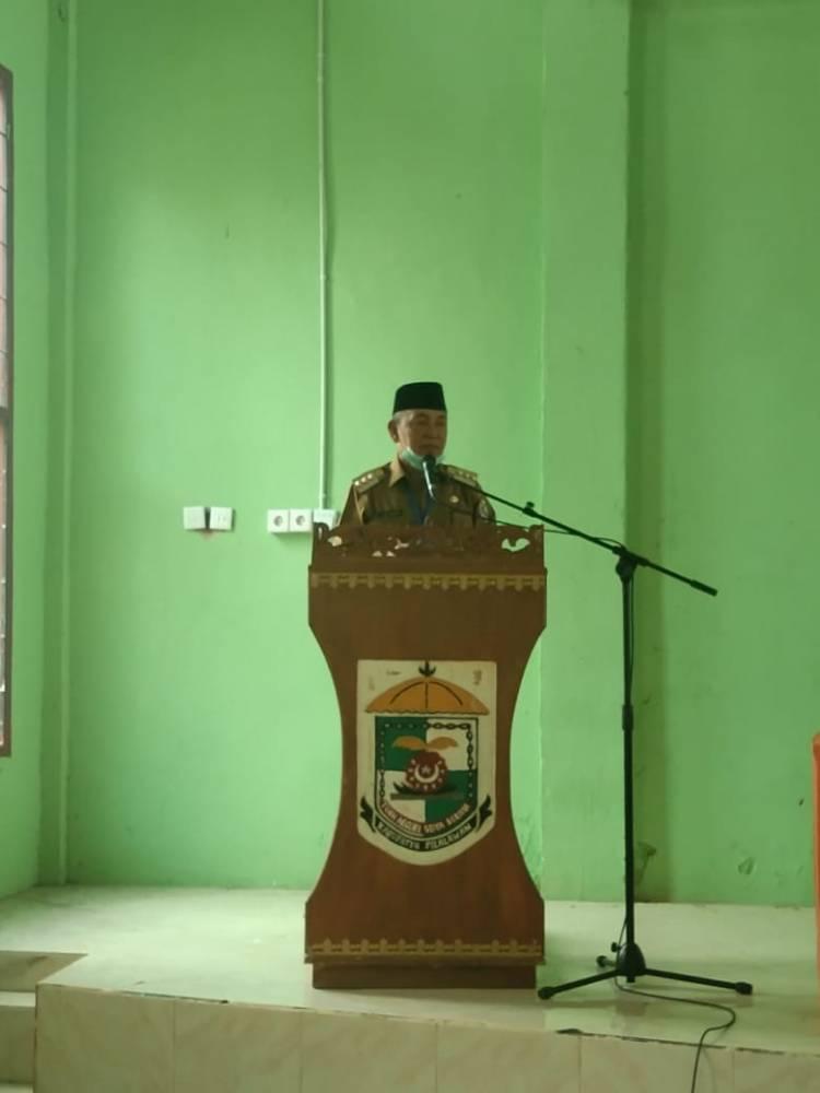 Ratusan Guru Di Kecamatan Bandar Petalangan Ikuti Swab Test Covid-19