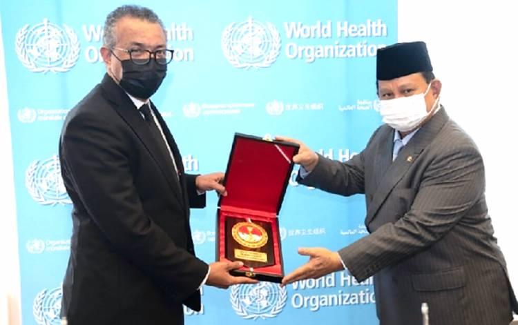 Menhan Prabowo Bertemu Dirjen WHO Bahas Kerja Sama Sipil-Militer dalam Penanganan Kesehatan