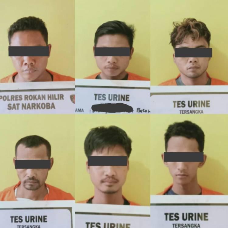 Polres Rohil Ringkus 4 Orang Pria di Kamar Hotel Suzuya, 2 Lagi di Depan Toko Berbeda