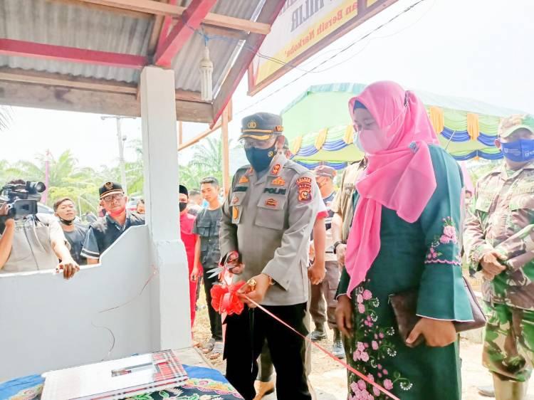 Kapolres Rohil Luncurkan Pembentukan Posko Kampung Bersih Narkoba