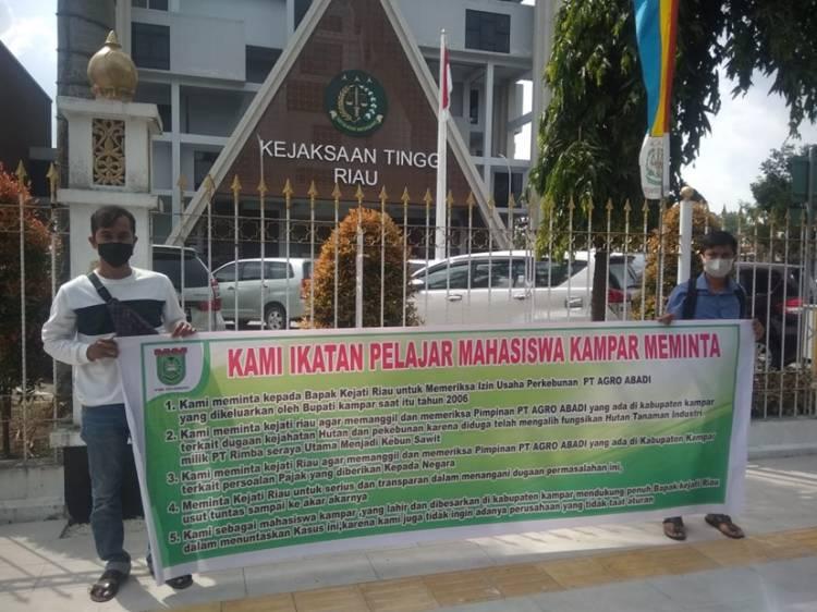 IPMK Ajukan 5 Tuntutan, Minta Kejati Riau Usut Dugaan Permasalahan HGU dan IUP PT. AGRO ABADI