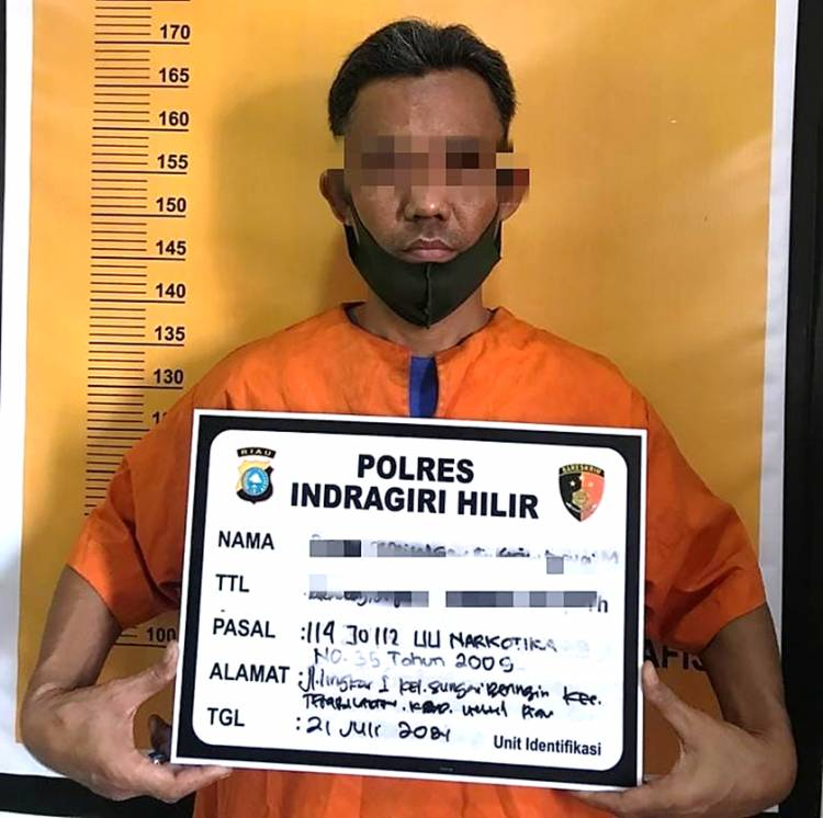 Hari ke-2 Iduladha 1442 H, Polres Inhil Berhasil Mengamankan Pelaku TP Narkotika Jenis Ekstasi
