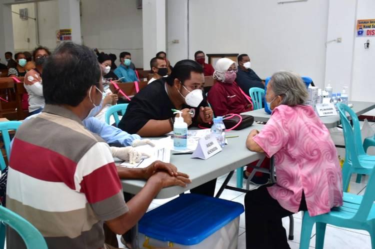 Kapolres Banjar Apresiasi Penyelenggaraan Vaksinasi di Gereja Kristen Indonesia Kota Banjar