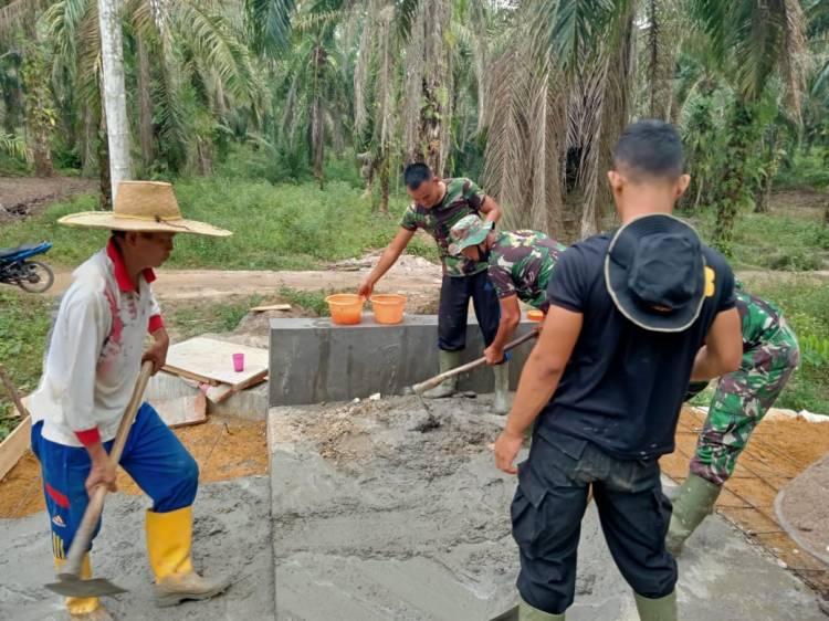 TNI dan Masyarakat Gesa Pembangunan Box Culvert yang Sudah Masuk Tahap Finishing