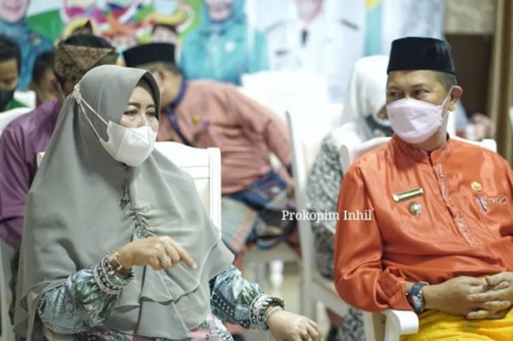 Wabup Inhil Bersama Bunda PAUD Hj. Zulaikhah Wardan Ikuti Peringatan HAN TH 2021 Tingkat Provinsi Riau