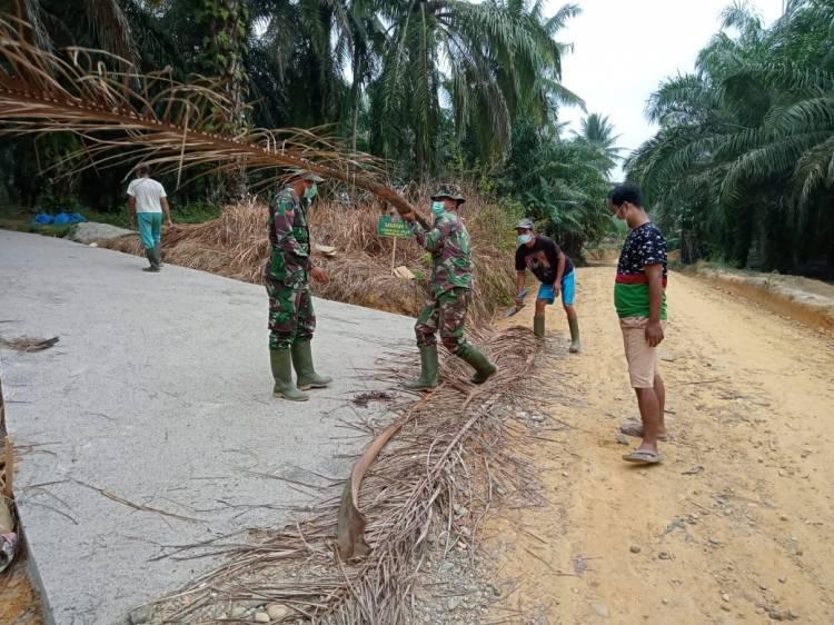 Semenisasi Sepanjang 200 Meter Dusun Bukit 5 Sasaran Fisik TMMD Selesai Dibangun