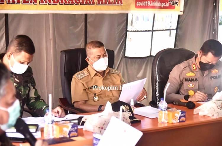 Wakil Bupati Inhil H. Syamsuddin Uti Pimpin Diskusi Pemberlakuan PPKM Diluar Pulau Jawa