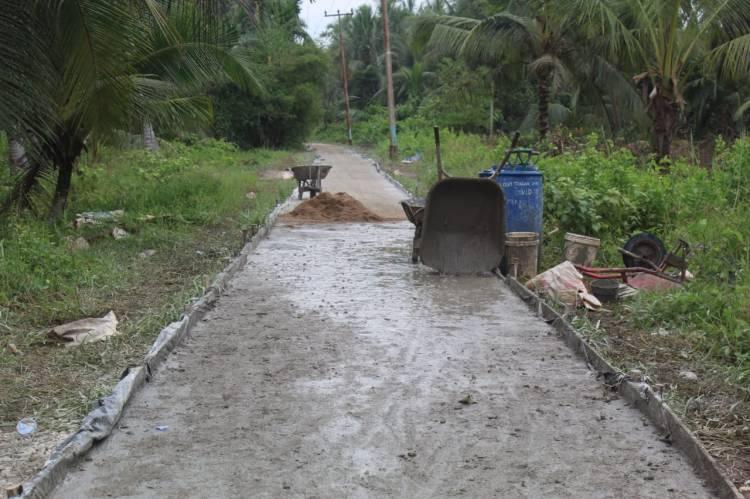 Jalan Penghubung Dua Desa Progres 100 Persen Sasaran Fisik TMMD Kodim 0314/Inhil