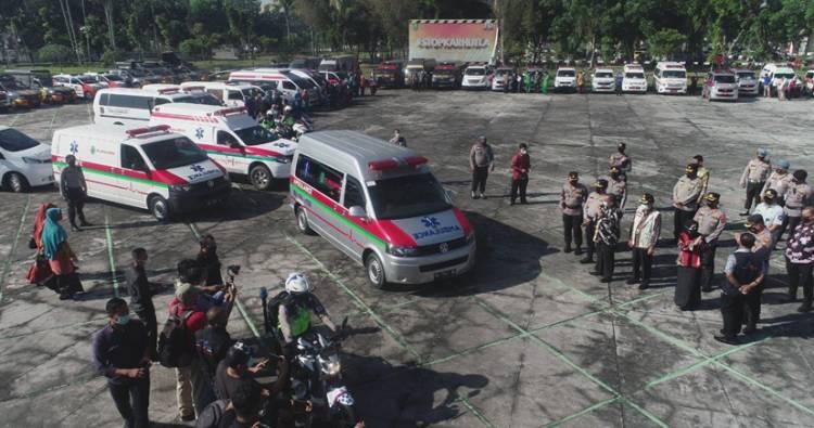 Satgas Covid-19 Riau Kerahkan 60 Unit Ambulance dan 220 Petugas, Jemput Pasien Isoman Agar Mendapat Perawatan Lebih Baik