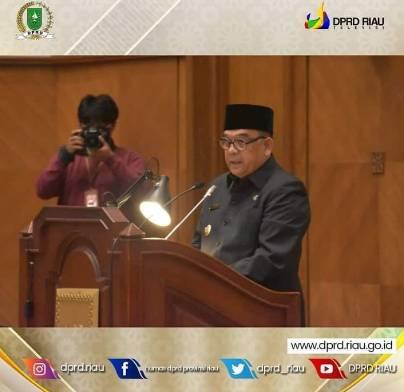 Dihadiri Wagubri Edy Natar, DPRD Riau Gelar Paripurna dengan Beberapa Agenda