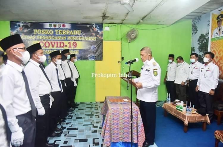BPD 12 Desa se-Kecamatan Mandah Resmi Dikukuhkan oleh Wabup Inhil H. Syamsuddin Uti