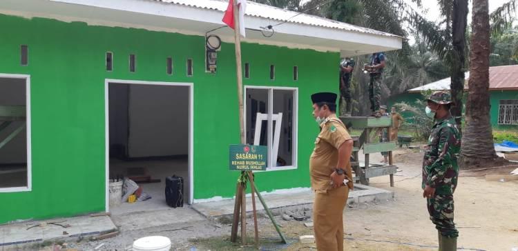 Rehab Mushola Program TMMD Ditinjau Pasiter dan Camat Basira