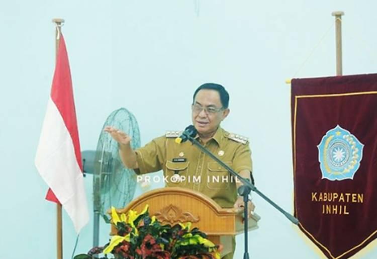Bupati HM. Wardan Membuka Pembinaan Administrasi Pengurus TP-PKK Inhil Tahun 2021