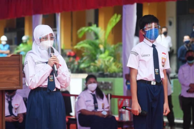 Para Pelajar Ungkapkan Kerinduan Sekolah Tatap Muka kepada Presiden Jokowi