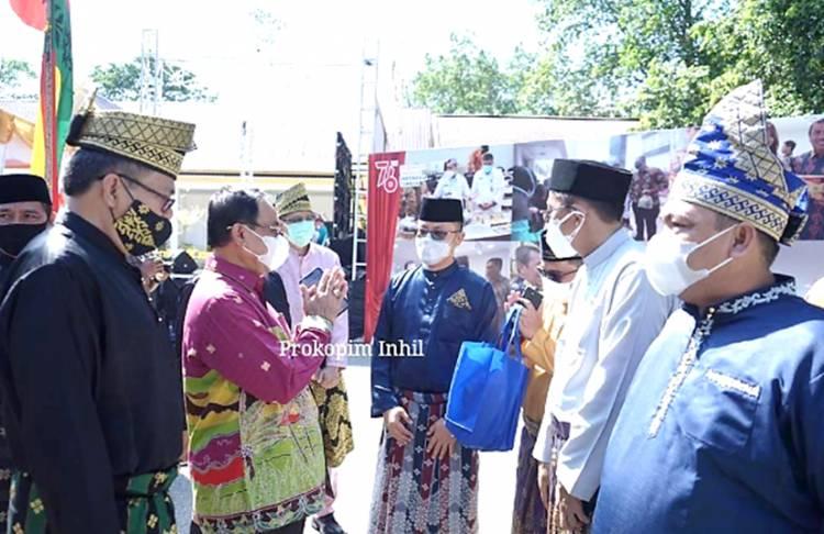 Bupati Inhil Hadir di Gerai Sentra Budaya dan Ekonomi Kreatif Melayu Riau yang Diresmikan Menparekraf Sandiaga S Uno