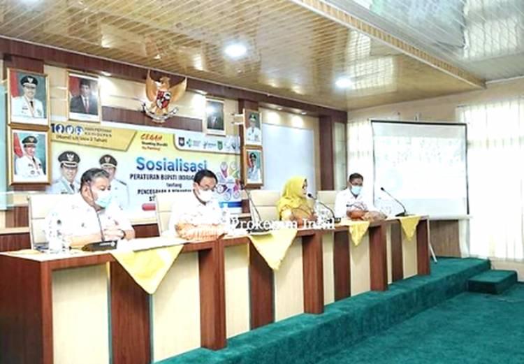 Sosialisasi Peraturan Bupati Inhil tentang Pencegahan dan Penanggulangan Stunting Terintegrasi