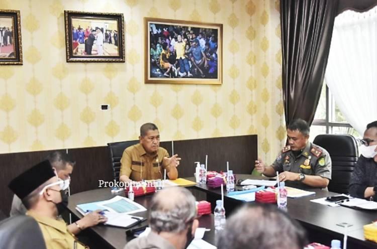 Wabup Inhil H. Syamsuddin Uti Pimpin Rakoor Persiapan Pembentukan Setber PPNS di Lingkungan Pemkab Inhil