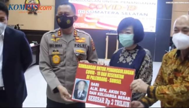 Terungkap,Uang Yang Disumbangan Rp 2 T Untuk Penanganan Covid 19 Di Sumatera Selatan Oleh Keluarga,Tabungan Akidi Tio Semasa Hidup
