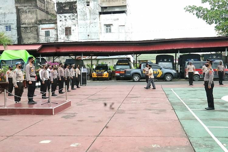 46 Personel Polres Inhil Mendapat Kenaikan Pangkat