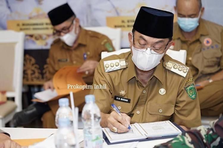 Usai Rakoor Bersama Presiden Joko Widodo, Bupati Inhil Lanjutkan Rakoor Bersama Gubernur Riau