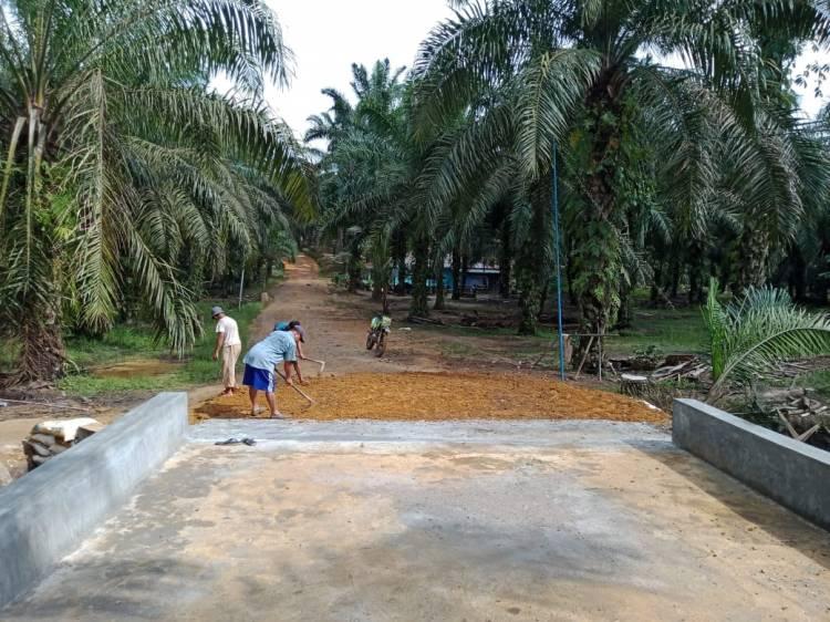 Box Culvert Program TMMD di Dusun Bukit 5 Rampung, Beberapa Hari ke Sudah Dapat Digunakan Warga