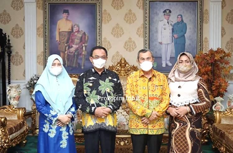 Sebelum Kembali ke Pekanbaru, Gubernur Riau di Jamu Sarapan Pagi oleh Bupati Inhil HM.Wardan