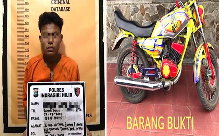 Kurang dari 24 Jam Terduga Pelaku Curanmor Berhasil  Ditangkap  Satreskrim Polres Inhil