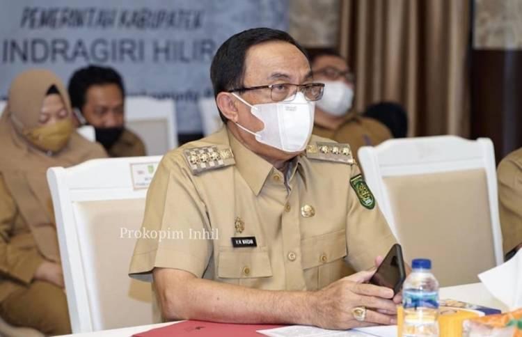 Bupati Inhil HM. Wardan Perintahkan Penyelesaian Segera Konflik antara BPD dan Kades Suraya Mandiri