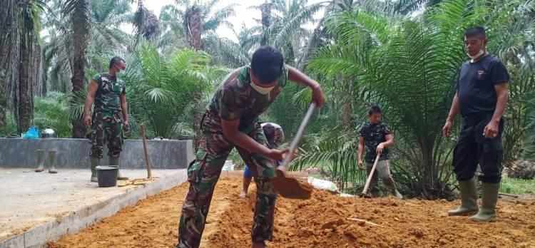 Box Culvert Dusun Suka Mulya Jaya Program TMMD Capai Tahap Finishing