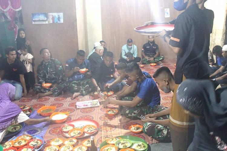 Malam Terakhir, Satgas TMMD ke-111 Kodim 0314/lnhil Gelar Doa dan Makan Malam Bersama Warga