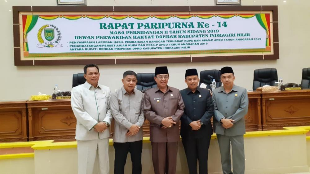 Pemkab Inhil Dan DPRD Setujui KUPA Dan PPAS - P APBD Tahun Anggaran 2019