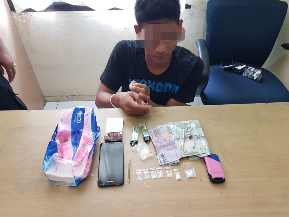 Seorang Pengedar Shabu Diciduk Polisi di Desa Kampung Pinang Perhentian Raja