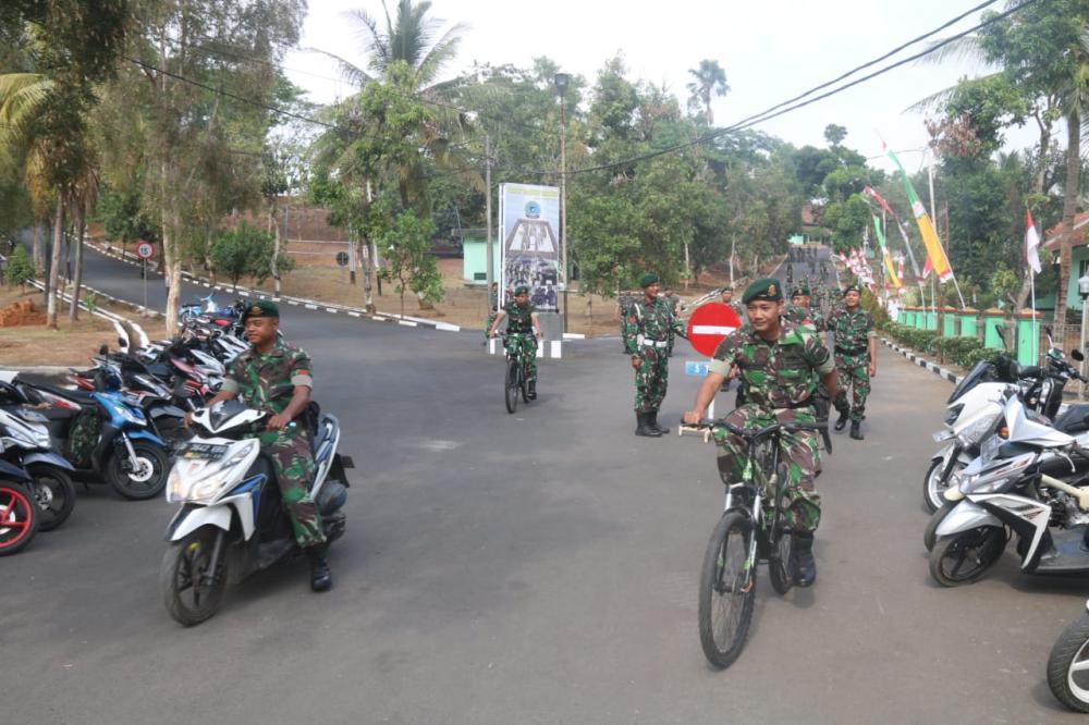 Kurangi Polusi Kendaraan, Yonif Raider 323 Kostrad Larang Anggota Gunakan Ranmor di Asrama