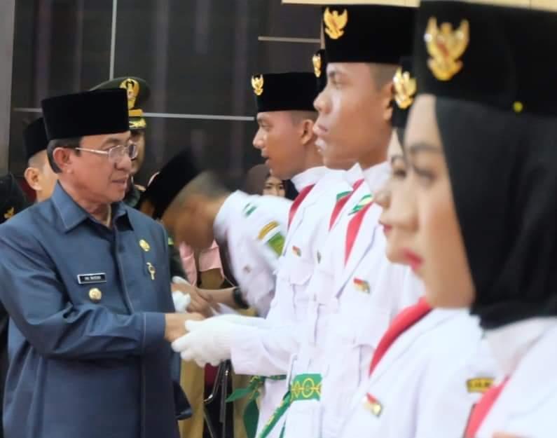 Bupati Inhil Kukuhkan Paskibra Tahun 2019, Prosesi Berlangsung Khidmat