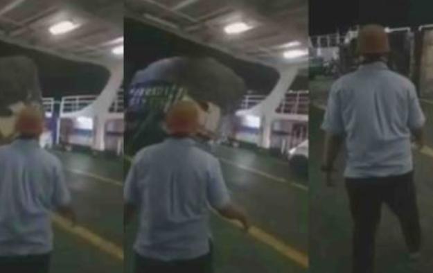 Video Dahsyatnya Gempa Banten, Truk di Atas Kapal Goyang-goyang sampai Terbalik