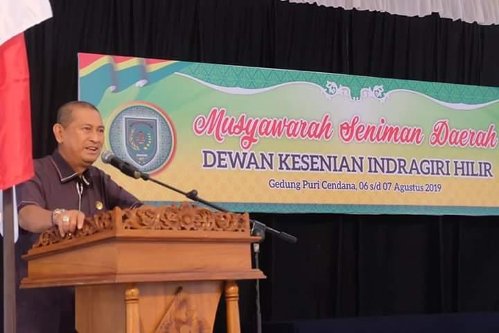 Penyelenggaraan Musyawarah Daerah Dewan Kesenian Indragiri Hilir (DKIH) Di Buka Wakil Bupati Inhil