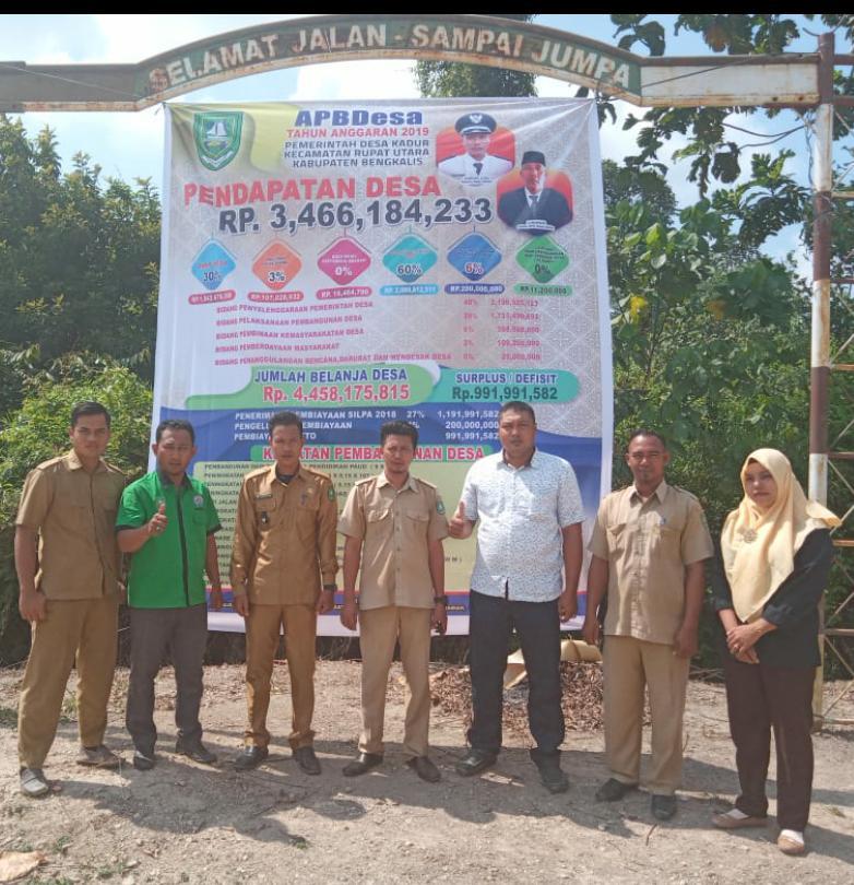 Transparansi Pengelolaan Anggaran, Desa Kadur Pasang Baliho APBDes 2019