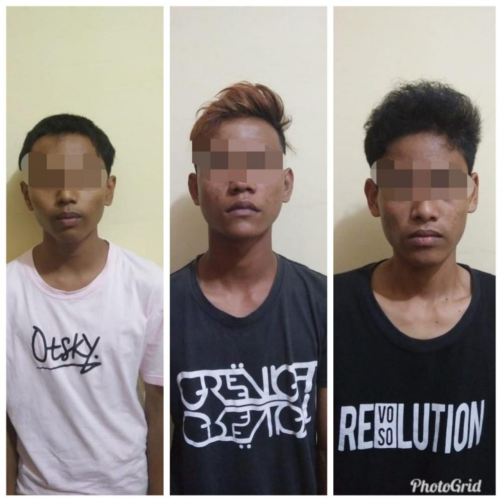 Tiga Orang Remaja di Tembilahan Ditangkap Polisi Curi Kabel Induk Penerangan Milik Disparporabud
