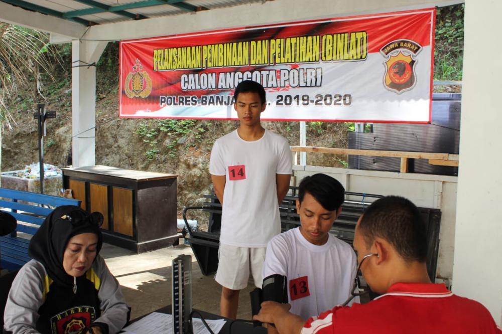 Bag Sumda Polres Banjar Selenggarakan Kegiatan Tes Kesehatan Pertama Binlat Calon Anggota Polri TA 2019/2020.