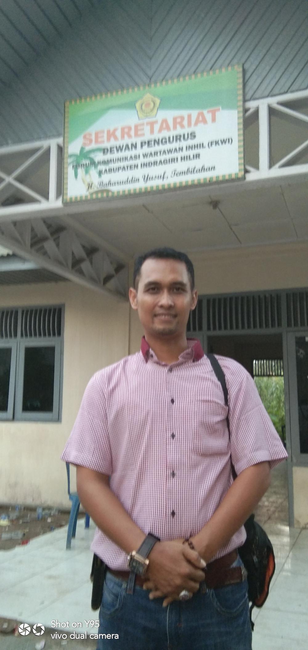 Debi Chandra syah Riwan Nakhodai Forum Komunikasi Wartawan Inhil(FKWI) periode 2019-2021