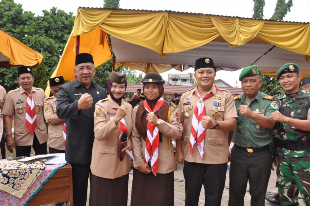 Upacara HUT Pramuka ke 58 Tahun 2019 tinggkat Kota Banjar Berlangsung Meriah.