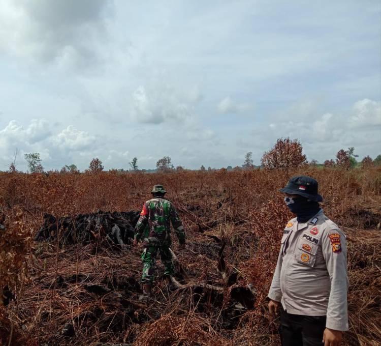 Pasca Karhutla di Desa Kuala Terusan, TNI Polri dan MPA Patroli Bersama Antisipasi Karhutla