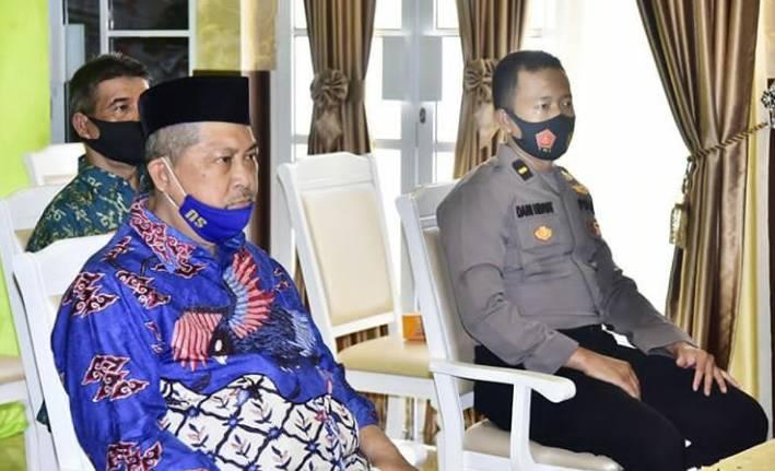 Wakil Bupati H.Syamsuddin Uti Ikuti Rakoor Bersama Menkopolhukam, Bahas Penerapan Inpres No.6 Tahun 2020