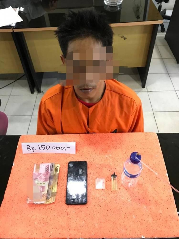 Tim Sat Res Narkoba Polres Inhil Amankan Seorang Pelaku Tindak Pidana Narkotika