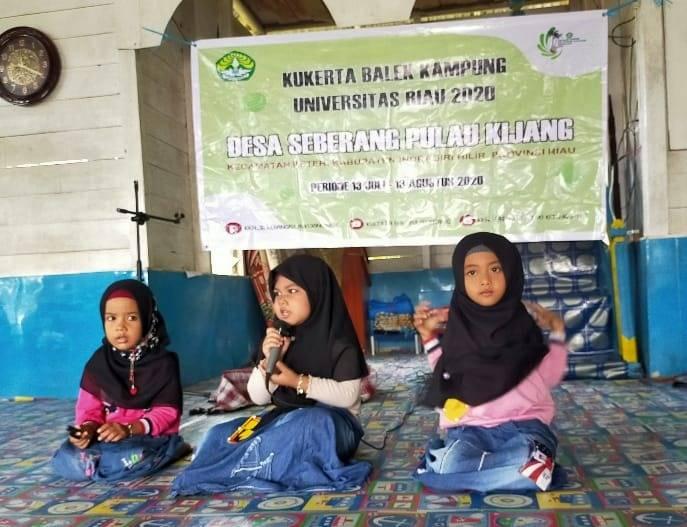 Mahasiswa Kukerta Unri Gelar Lomba Anak Sholeh di Desa Seberang Pulau Kijang