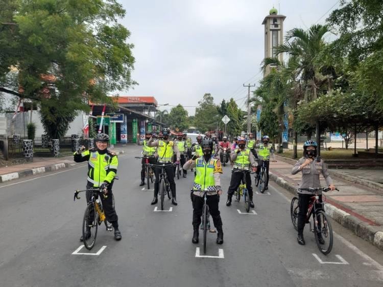 Patroli Bersepeda Kapolres Banjar, Imbauan Protokol Kesehatan.