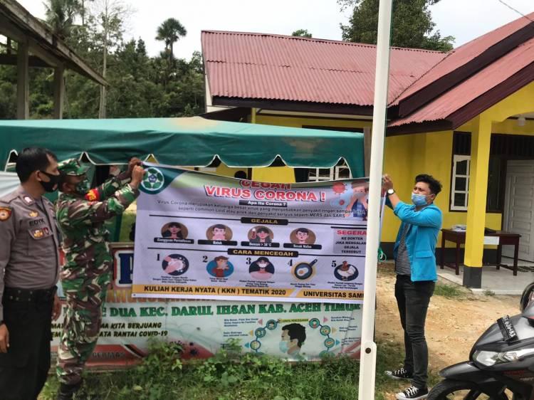 TNI-POLRI Kompak:  Sosialisasikan Penerapan Kebiasaan Baru Di A.Tim