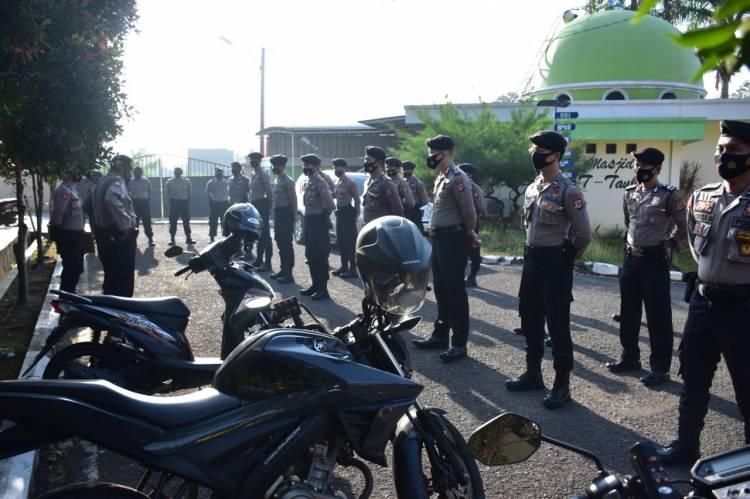 Pelaksanaan Apel Pagi Fungsi dan Senam Rutin AWS3 Personil Polres Banjar