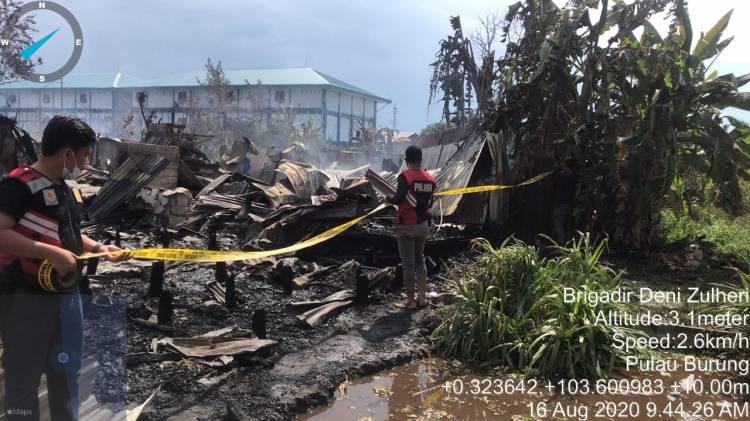 Si Jago Merah mengamuk di perumahan karyawan PT PSG Parit 10 Desa Air Tawar