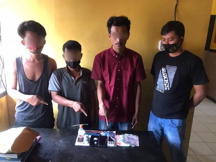 Polisi Ciduk 3 Pria Penikmat Sabu, 1 DPO